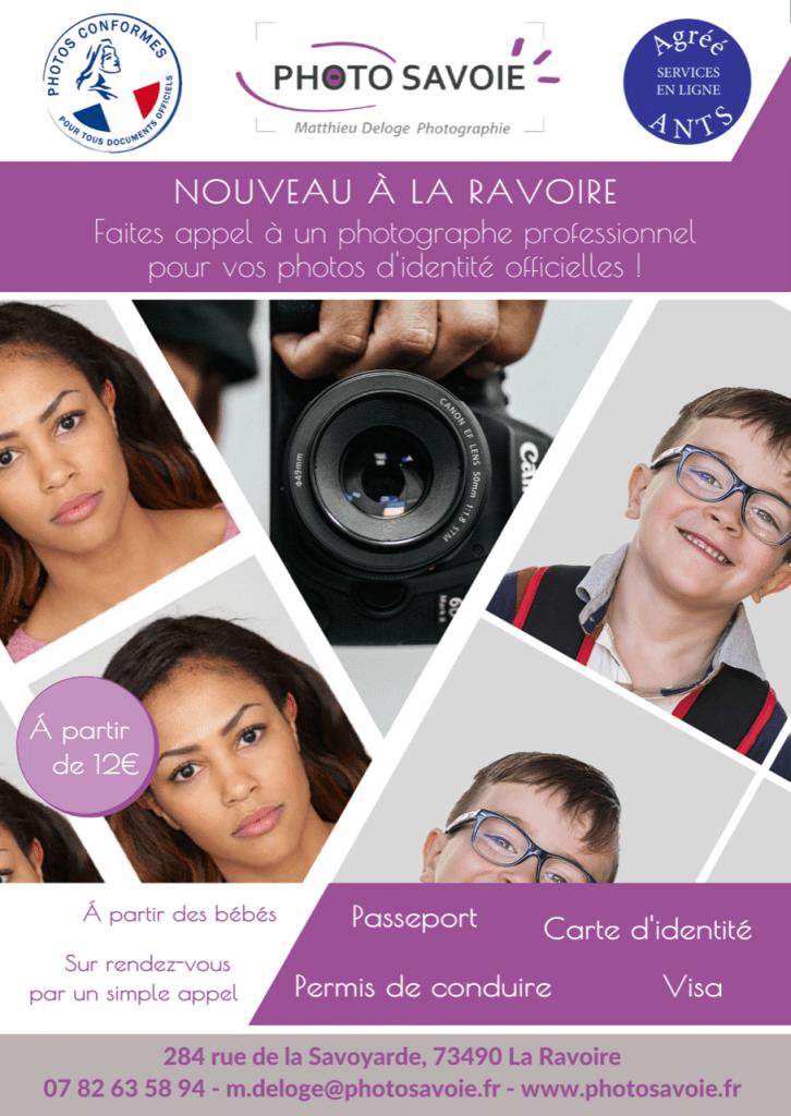 Vos photos d'identité à La Ravoire & Chambéry